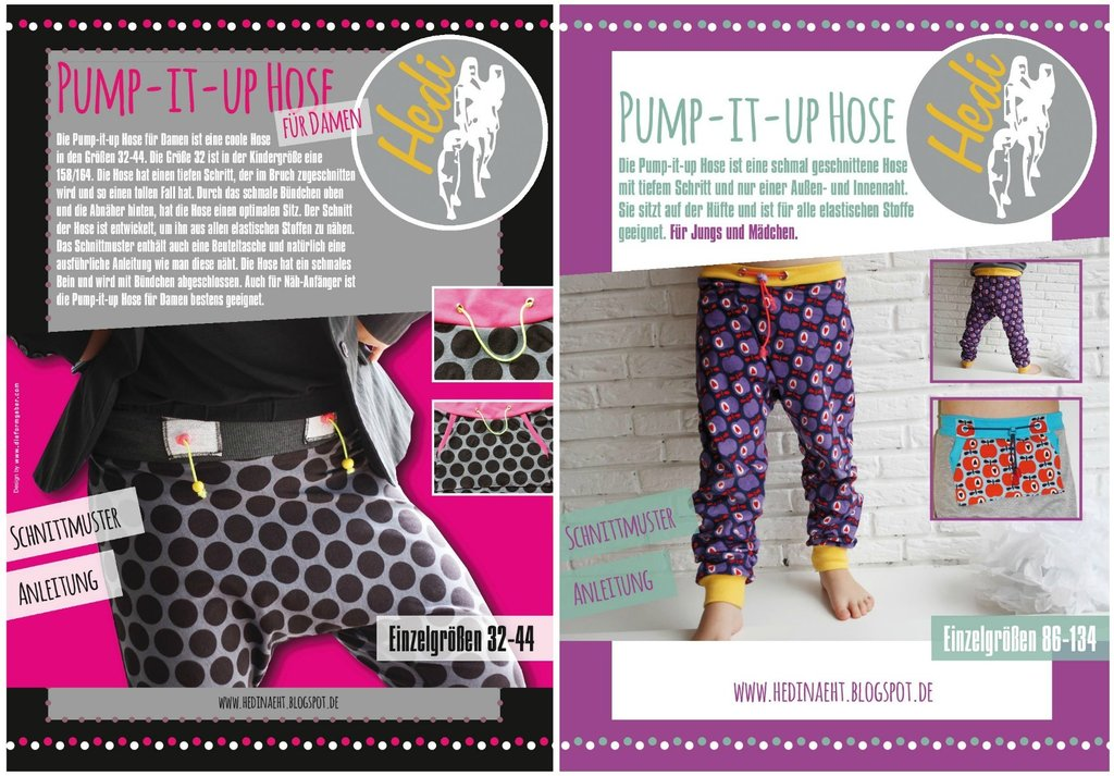 Set: eBooks Pump-it-up Hose Kids/Damen