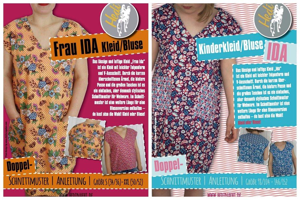 Set: Kleid/Bluse Frau Ida und Ida - Hedi
