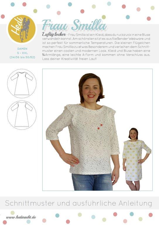 Papierschnittmuster Kleid/Bluse Frau Smilla - Hedi
