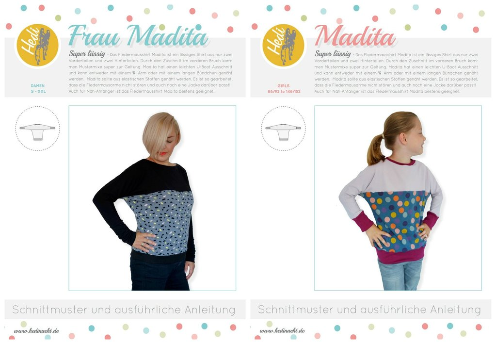 SET: eBooks Fledermausshirt Frau Madita + Madita