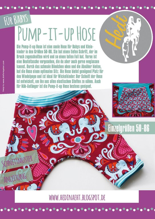 Papierschnittmuster Pump-it-up Hose Baby