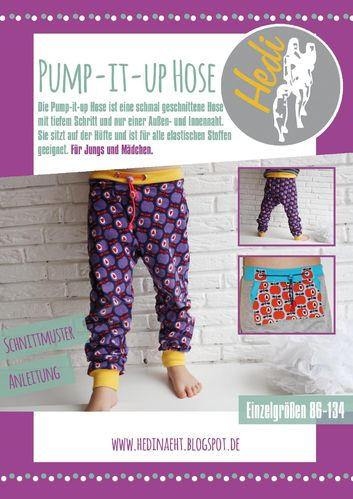 Papierschnittmuster Pump-it-up Hose Kids