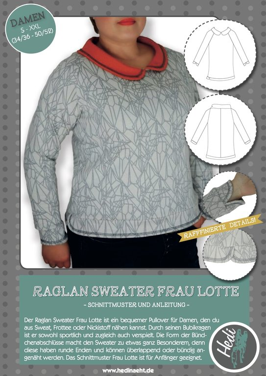 eBook Raglan-Sweater Frau Lotte