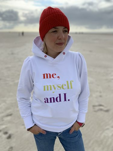 """me, myself and I"" 1,5 m Sweat Paneel + Bündchen + Papierschnitt ""Frau Calla"""